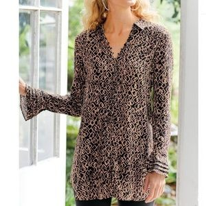Soft surroundings Paloma Long sleeve top small